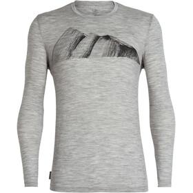 Icebreaker Tech Lite Remarkables T-shirt manches longues à col ras-du-cou Homme, metro heather